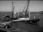 WS Steamer St Anthony into port w/ sailboats moored FG HA XWS Panaji coast coastline w/ many moored boats HA Angled WS Stone bridge HA XWS Palm trees...