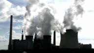 Dampfende Kohle-Kraftwerk