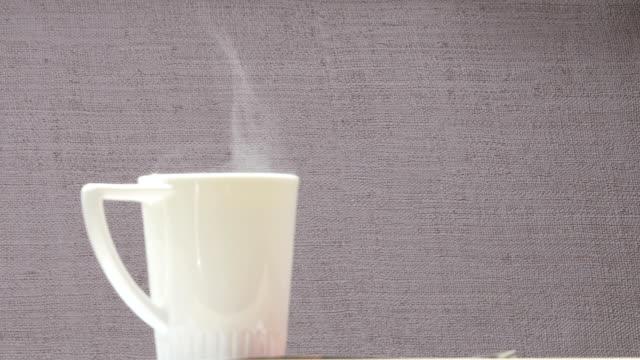 steaming hot tea