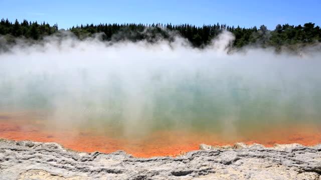 Steaming Water at Champagne Pool, Waiotapu Thermal Reserve, Rotorua