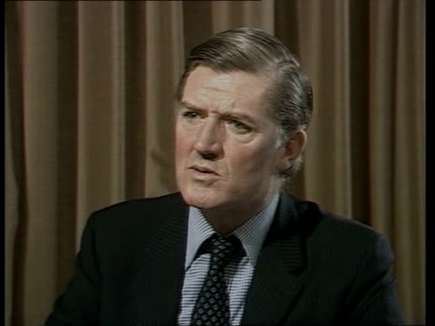 Cecil Parkinson interview ENGLAND London INT Cecil Parkinson interview SOT On Robert Haslam taking over from Ian MacGregor as Chairman of British...