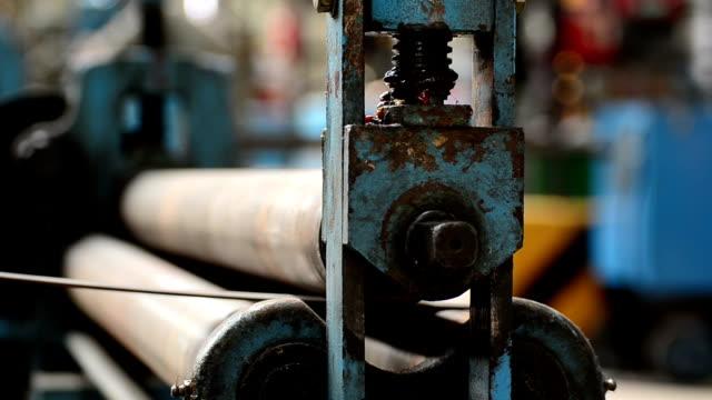 Steel rolling machine.
