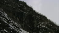 Steep mountain rock face, Sorfjorden, Norway
