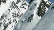 Steep skiing in Alaska