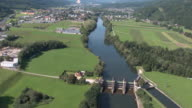 Steiermark Flugaufnahmen - View of a Dam in Bruck from above