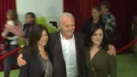 Stella Arroyave Anthony Hopkins at the The World Premiere of Walt Disney's 'The Muppets' at Hollywood CA