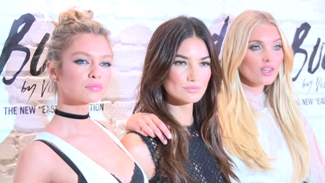Stella Maxwell Lily Aldridge Elsa Hosk at Victoria's Secret Easy Collection Launch at Victoria's Secret SoHo on July 26 2016 in New York City