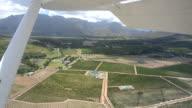 Stellenbosch Winelands from a plane