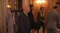 Stephen Jones Yasmin Le Bon and Gianluca Longo Dorchester Collection Fashion prize Judges examine Hermione de Paula's designs