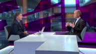 Stephen Kinnock interview on becoming MP for Aberavon ENGLAND London GIR Aberavon LIVE STUDIO interview SOT On Ed Miliband / what went wrong with...
