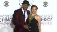 Stephen 'Twitch' Boss and Allison Holker at the People's Choice Awards 2016 at Nokia Plaza LA LIVE on January 6 2016 in Los Angeles California