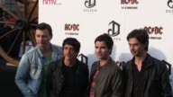 Stereophonics band members Adam Zindani Javier Weyler Kelly Jones and Richard Jones attend the Exclusive World Premiere Of AC/DC 'Live At River...