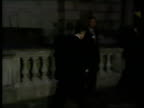 Political reaction ENGLAND London The Treasury LMS Norman Lamont MP coming out of Treasury with officials to speak to press SOF Today has been...