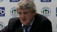 Lancashire Wigan INT Steve Bruce press conference SOT On the race for the Premier League title / On how it is too early to say who might win the title