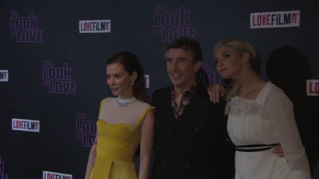 Steve Coogan Anna Friel and Tamsin Egerton at 'The Look Of Love' UK Film Premiere in London England UK on 4/15/2013