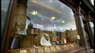 Steve Costello interview SOT Sign over shop 'Old School Colours' School ties and sweaters displayed in shop window Mark Smith interview SOT GIR INT...
