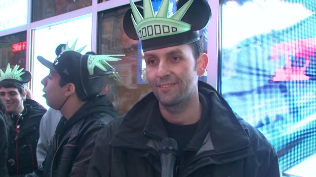 Steve Lopez on being the first ones on line at 430am at the Jennifer Grey Kyle Massey Help Launch Epic Mickey for Wii at Disney Store Times Square at...