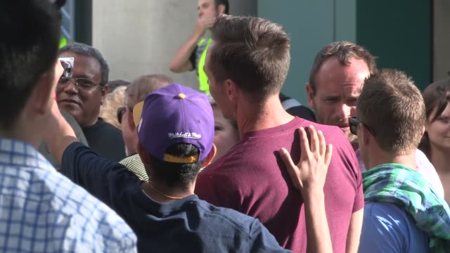 Steve Nash greets fans at the LA Kings vs Chicago Blackhawks game at the Staples Center at Celebrity Sightings in Los Angeles on May 26 2014 in Los...
