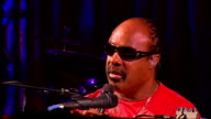 Steve Wonder interview on his forthcoming tour Press conference and performance Stevie Wonder question and answer session SOT Talks of visiting...