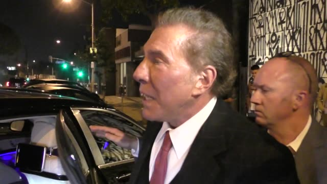 INTERVIEW Steve Wynn on if OJ Simpson is welcome at Wynn hotels outside Craig's in West Hollywood at Celebrity Sightings in Los Angeles on November...