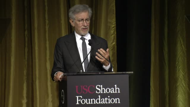 SPEECH Steven Spielberg at 20th Anniversary Ambassadors For Humanity Gala By The USC Shoah Foundation in Los Angeles CA