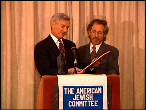 Steven Spielberg at the American Jewish Committee Honoring Steven Spielberg at the Regent Beverly Wilshire Hotel in Beverly Hills California on...