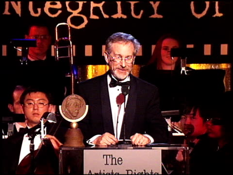 Steven Spielberg at the Artist Rights Foundation at the Beverly Hilton in Beverly Hills California on April 17 1998