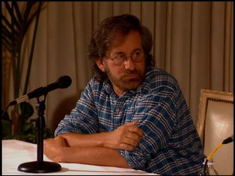 Steven Spielberg at the Spielberg Geffen Katzenberg Studio Conference on October 12 1994