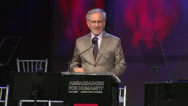 Steven Spielberg at the The Ambassadors for Humanity Gala