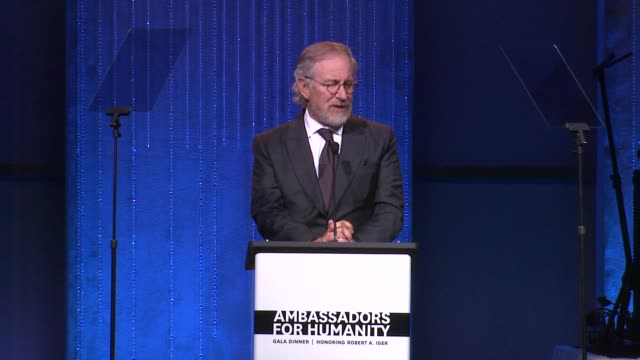 Steven Spielberg at USC Shoah Foundation Institute Ambassadors For Humanity Gala Dinner SPEECH Steven Spielberg at USC Shoah Foundation at the Grand...