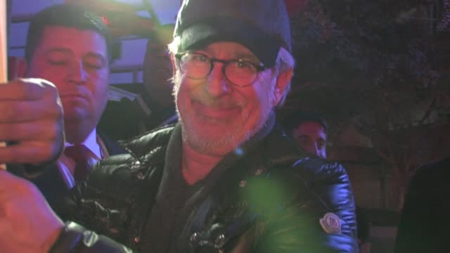 Steven Spielberg leaving Staples Center 02/20/12