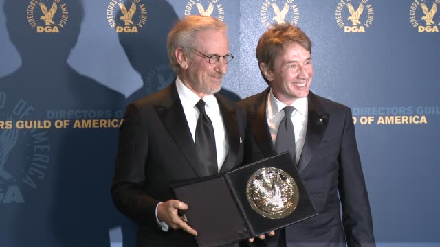 Steven Spielberg Martin Short at 65th Annual Directors Guild Of America Awards Press Room 2/2/2013 in Hollywood CA