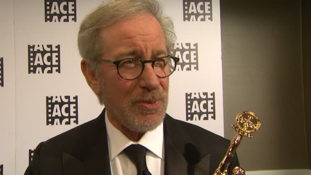 INTERVIEW Steven Spielberg on being at the event at the 63rd Annual ACE Eddie Awards at The Beverly Hilton Hotel on February 16 2013 in Beverly Hills...