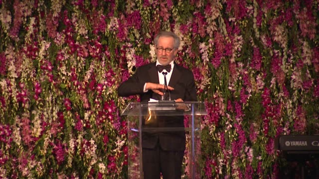 Steven Spielberg on directors that inspired him at LACMA Hosts 2012 Art Film Gala Honoring Ed Ruscha And Stanley Kubrick Presented By Gucci on...