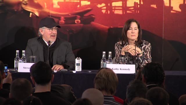Steven Spielberg on how Hollywood is still creative at the War Horse Press Conference Part One at Claridge's Hotel London UK on 9th January 2012