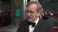 INTERVIEW Steven Spielberg on not being at the BAFTA's for a long time enjoying meeting new friends and old friends being star struck on the carpet...