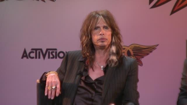 Steven Tyler at the Aerosmith Launches New Guitar Hero at New York NY