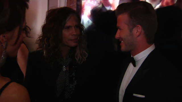 Steven Tyler David Beckham at the 2012 Vanity Fair Oscar Party Hosted By Graydon Carter Inside Party at West Hollywood CA