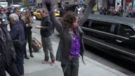 Steven Tyler of Aerosmith arrives at the Late Show in New York NY on 11/01/12