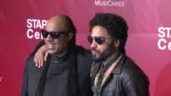 Stevie Wonder and Lenny Kravitz at the 2016 MusiCares Person of The Year Honoring Lionel Richie at Los Angeles Convention Center on February 13 2016...