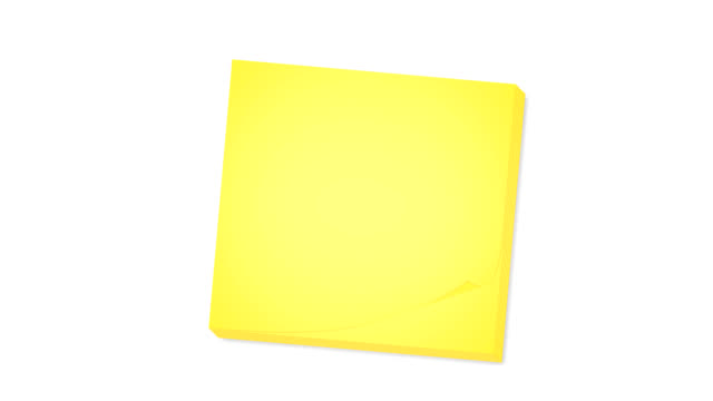 Sticky notes with matte