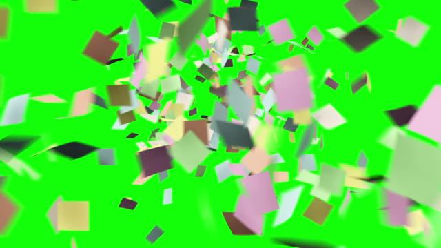 StickyFlyingUp_Blur_GreenScreen