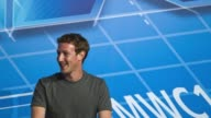 Still photo montage of Facebook CEO Mark Zuckerberg a keynote session on the opening day of the Mobile World Congress in Barcelona Spain Still Photo...