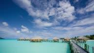 FM WS stilt huts on water at Pearl Beach Resort/ Bora Bora, Tahiti