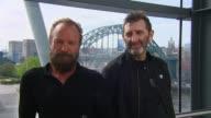 Sting and Jimmy Nail back boycott against Newcastle United owner Mike Ashley ENGLAND Newcastle INT Sting and Jimmy Nail chatting