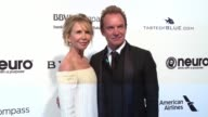 Sting and Trudie Styler at the Elton John AIDS Foundation Presents The 25th Annual Academy Awards Viewing Party on February 26 2017 in West Hollywood...