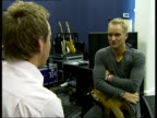 Sting rehearsal and interview ahead of royal gala dinner to celebrate 30th anniversary of Prince's Trust Sting interview SOT on the work of the...
