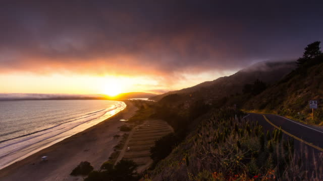 Stinson Beach Sunset - Time Lapse