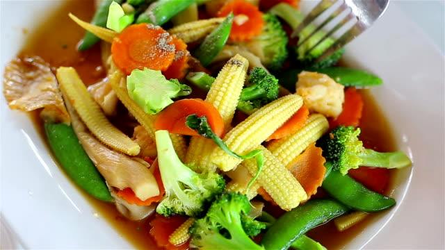 Stir Fried Vegetables.Thai Food