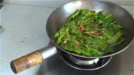 Stir-fries beans